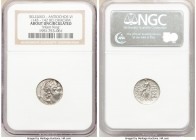 SELEUCID KINGDOM. Antiochus VI Dionysus (144-142 BC). AR drachm (16mm, 12h). NGC AU. Antioch on the Orontes, dated Seleucid Era 169 (144/3 BC). Diadem...