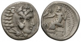 Kings of Macedon, Alexander III 'the Great' Miletos, circa 325-323 BC. AR Drachm. Struck under Philoxenos. Head of Herakles to right, wearing lion ski...