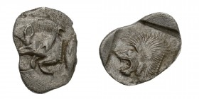 Greek, Mysia, c. 450-400 BC, AR Obol, Kyzikos