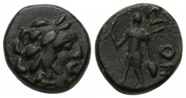 Lycaonia, Eikonion Æ16. c. 1st C. BC. Head of Zeus r. / Perseus walking l., holding harpa and head of Medusa. SNG vA 5385. Condition: Çok İyi 3.6 gr. ...