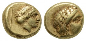 Greek, Lesbos, c. 377-326 BC, EL Hect, Mytilene