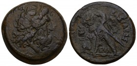 PTOLEMAIC KINGS OF EGYPT. Ptolemy VI Philometor (First sole reign, 180-170 BC). AE 