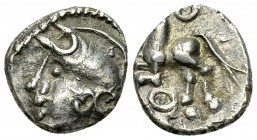 Aedui AR Quinarius, c. 80-50 BC 