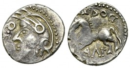 Sequani AR Quinarius, c. 80-50 BC 