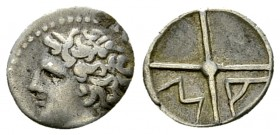 Massalia AR Obol, c. 220-121 BC 