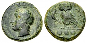 Kamarina AE Tetras, c. 420-405 BC 