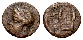 Mytilene AE9, c. 350-250 BC 
