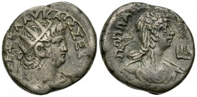 Nero BI Tetradrachm, Poppaea reverse 