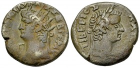 Nero BI Tetradrachm, Tiberius reverse 