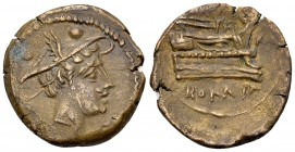Anonymous AE Sextans, c. 211-208 BC 