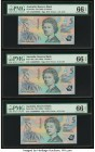 Australia Reserve Bank 5 Dollars ND (1992) Pick 50a Four Consecutive Examples PMG Gem Uncirculated 66 EPQ (4). Bermuda Monetary Authority 50 Dollars 2...