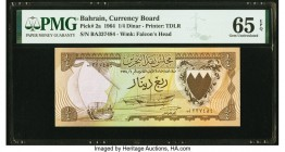 Bahrain Currency Board 1/4 Dinar 1964 Pick 2a PMG Gem Uncirculated 65 EPQ.   HID09801242017  © 2020 Heritage Auctions | All Rights Reserved