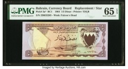 Bahrain Currency Board 1/2 Dinar 1964 Pick 3a* Replacement PMG Gem Uncirculated 65 EPQ.   HID09801242017  © 2020 Heritage Auctions | All Rights Reserv...