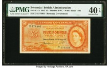 Bermuda Bermuda Government 5 Pounds 20.10.1952 Pick 21a PMG Extremely Fine 40 EPQ.   HID09801242017  © 2020 Heritage Auctions | All Rights Reserved
