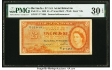 Bermuda Bermuda Government 5 Pounds 20.10.1952 Pick 21a PMG Very Fine 30 EPQ.   HID09801242017  © 2020 Heritage Auctions | All Rights Reserved