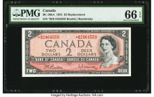 Canada Bank of Canada $2 1954 Pick 76br BC-38bA Replacement PMG Gem Uncirculated 66 EPQ.   HID09801242017  © 2020 Heritage Auctions | All Rights Reser...