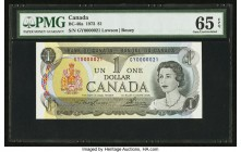 Low Serial Number 21 Canada Bank of Canada $1 1973 BC-46a PMG Gem Uncirculated 65 EPQ.   HID09801242017  © 2020 Heritage Auctions | All Rights Reserve...