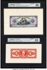 El Salvador Banco Occidental 1 Colon ND (1929) Pick S192fp; S192bp Front and Back Proofs PMG Gem Uncirculated 66 EPQ; Choice Uncirculated 64.   HID098...