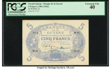 French Guiana Banque de la Guyane 5 Francs ND (1942) Pick 1d PCGS Currency Extremely Fine 40.   HID09801242017  © 2020 Heritage Auctions | All Rights ...