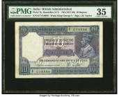 India Government of India 10 Rupees ND (1917-30) Pick 7b Jhun3.7.2 PMG Choice Very Fine 35. Annotations.   HID09801242017  © 2020 Heritage Auctions | ...