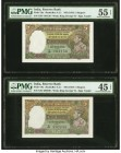 India Reserve Bank of India 5 Rupees ND (1937) Pick 18a Jhun4.3.1 PMG Choice Extremely Fine 45 EPQ; About Uncirculated 55 EPQ. Staple holes at issue. ...