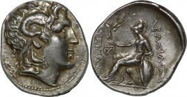 KINGS OF THRACE. Lysimachos (305-281 BC). Tetradrachm. Uncertain mint. Obv: Diademed head of the deified Alexander right, wearing horn of Ammon. Rev: ...