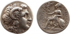 KINGS OF THRACE (Macedonian). Lysimachos (305-281 BC). Drachm. Ephesos. Obv: Diademed head of the deified Alexander right, wearing horn of Ammon. Rev:...