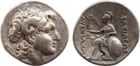 KINGS OF THRACE (Macedonian). Lysimachos (305-281 BC). Tetradrachm. Lampsakos. Obv: Diademed head of the deified Alexander right, wearing horn of Ammo...