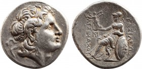 KINGS OF THRACE. Lysimachos, 305-281 BC. Tetradrachm. Amphipolis, c. 288/7-282/1. Obv: Diademed head of Alexander the Great to right, with horn of Amm...