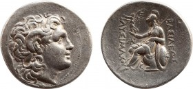 KINGS OF THRACE (Macedonian). Lysimachos (305-281 BC). Tetradrachm. Uncertain mint. Obv: Diademed head of the deified Alexander right, wearing horn of...