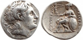 KINGS OF THRACE (Macedonian). Lysimachos (305-281 BC). Tetradrachm. Obv: Diademed head of the deified Alexander right, wearing horn of Ammon. Rev: ΒΑΣ...