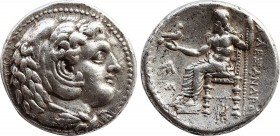 KINGS OF MACEDON. Alexander III 'the Great' (336-323 BC). Tetradrachm. 'Babylon.' Lifetime issue. Obv: Head of Herakles right, wearing lion skin. Rev:...