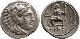 KINGS OF MACEDON. Alexander III 'the Great' Drachm. Posthumous issue. Uncertain mint in Western Asia Minor, circa 323-280 BC. Obv: Head of Herakles to...
