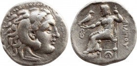 KINGS OF MACEDON. Philip III Arrhidaios (323-317 BC). Drachm. Lampsakos. Obv: Head of Herakles right, wearing lion skin. Rev: ΦIΛIΠΠOY. Zeus seated le...