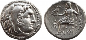 KINGS OF MACEDON. Philip III Arrhidaeus. ( 323-317 BC). In the name and types of Alexander III. Struck under Menander or Kleitos, circa 322-319/8 BC D...