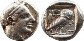 ATTICA. Athens. Tetradrachm (Circa 465-460 BC). Transitional issue.