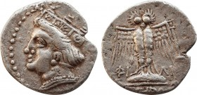 PONTOS. Amisos (as Peiraieos). Siglos or Drachm (Circa 435-370 BC). Myll-, magistrate. Obv: Head of Hera left, wearing ornamented stephanos. Rev: ΦΙ-Λ...