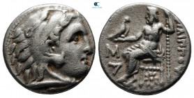 Kings of Macedon. Kolophon. Philip III Arrhidaeus 323-317 BC. In the types of Alexander III. Struck under Menander or Kleitos. Drachm AR