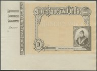 200 pesetas. (1892ca). Bank of Valls. Print proof, with matrix on the left and without text. Series D. (Ruiz and Alentorn: 933). UNC.