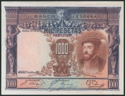 1000 Pesetas. July 1, 1925. Without series. (Edifil 2017: 351). It retains part of the original size. AU.