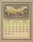 Spectacular calendar of the year 1927 (the pages are from the month of May) edited and printed by Waterlow and Sons in London, in Spanish and with a b...
