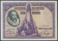 100 Pesetas. August 15, 1928. Without series. (Edifil 2017: 355). It keeps all its original size. AU.