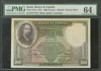 1000 Pesetas. April 25, 1931. Without series. (Edifil 2017: 362). PMG64 package. UNC.
