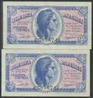 50 Cents. 1937. Correlative couple. Series C, last series issued. (Edifil 2017: 391a). UNC.