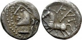 "WESTERN EUROPE. Central Gaul. Lingones (1st century BC). Quinarius. ""Kaletedou"" type. 
