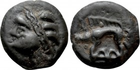 WESTERN EUROPE. Northeast Gaul. Leuci (Circa 100-50 BC). Potin Unit. 