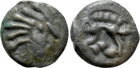 WESTERN EUROPE. Northeast Gaul. Senones (Circa 80-52 BC). Ae. 