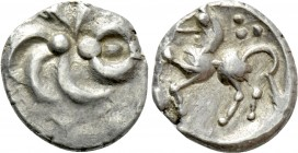"CENTRAL EUROPE. Vindelici. Quinarius (1st century BC). ""Büschelquinar"" type. 