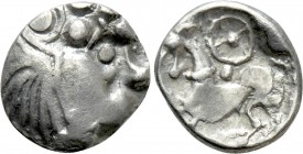 "EASTERN EUROPE. Imitations of Philip II of Macedon (First half of 2nd century BC). Obol. ""Kroisbacher mit Rad"" type. 