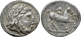 "EASTERN EUROPE. Imitation of Philip II of Macedon. Drachm (Circa 3nd century BC). ""Audoleon"" type. 
